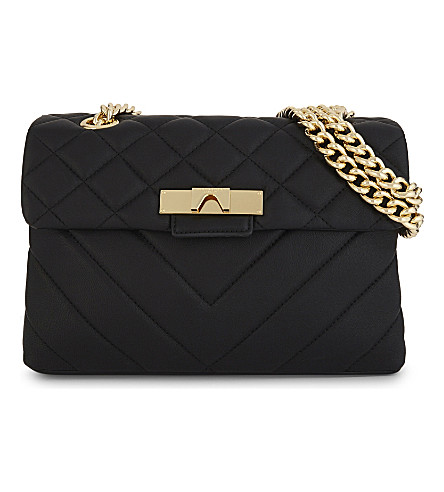 KURT GEIGER LONDON Kensington leather shoulder bag (Black