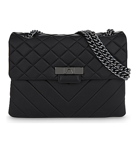KURT GEIGER LONDON Kensington large leather shoulder bag (Black