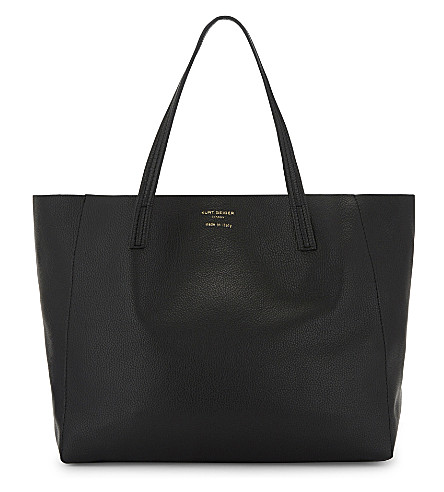 KURT GEIGER LONDON Violet Horizontal leather tote (Black