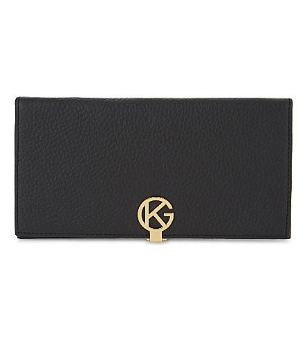 KURT GEIGER LONDON Leather logo wallet (Black/comb