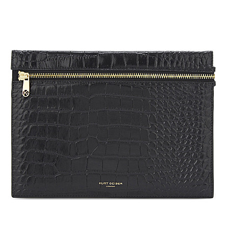KURT GEIGER LONDON Croc London pouch (Black