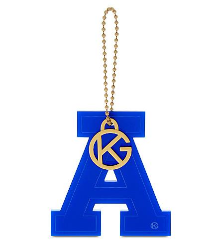 KURT GEIGER LONDON Letter ' bag charm (Blue
