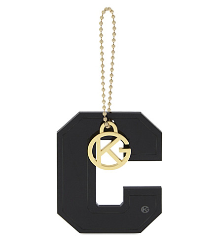 KURT GEIGER LONDON Letter C bag charm (Black