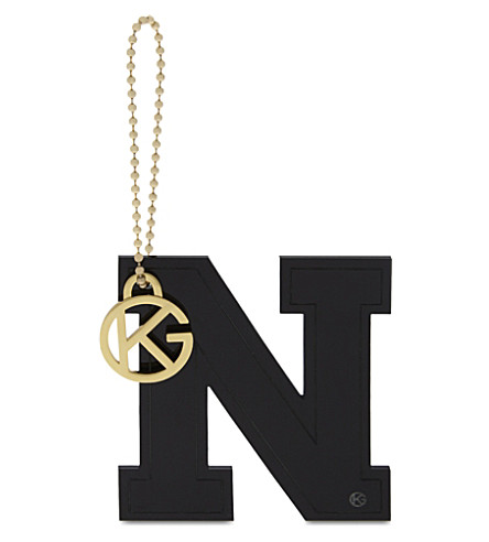 KURT GEIGER LONDON Letter N bag charm (Black