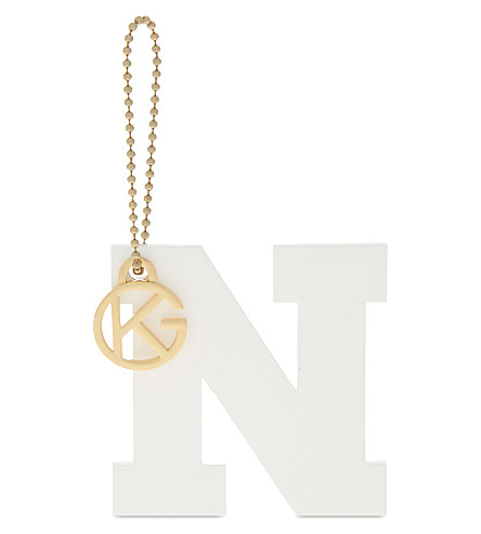 KURT GEIGER LONDON Letter N bag charm (White