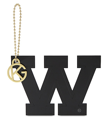 KURT GEIGER LONDON Letter W bag charm (Black