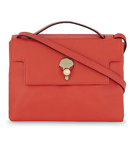 KURT GEIGER LONDON Keyhole leather cross-body bag (Orange