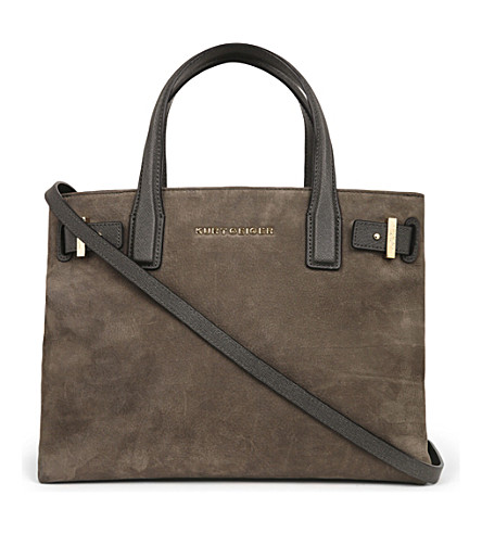 KURT GEIGER LONDON London Leather Tote (Grey/other