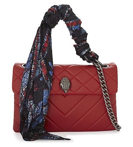 KURT GEIGER LONDON Kensington quilted leather shoulder bag (Red