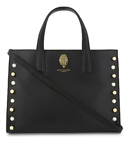 KURT GEIGER LONDON Eagle leather tote (Black
