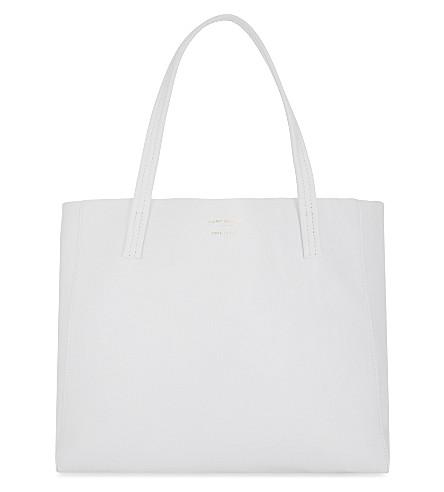KURT GEIGER LONDON Violet leather tote (White