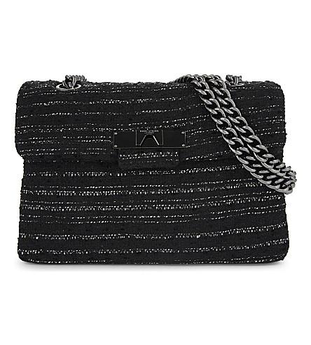 KURT GEIGER LONDON Kensington cross-body bag (Black+tweed