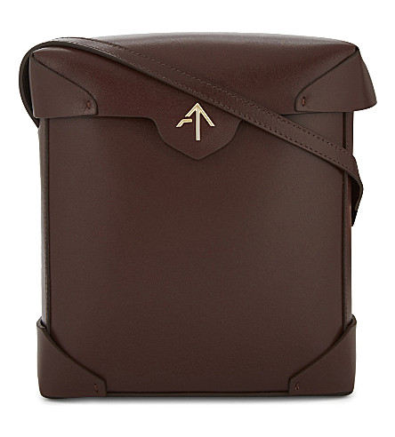 MANU ATELIER Pristine leather cross-body bag (Reddish+brown