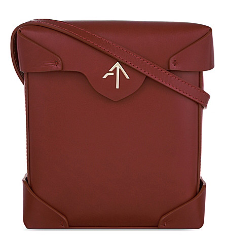 MANU ATELIER Mini Pristine leather shoulder bag (Red