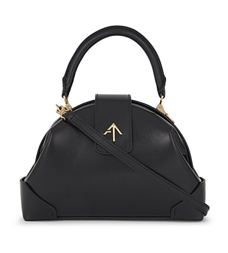 MANU ATELIER Demi leather cross-body bag (Black