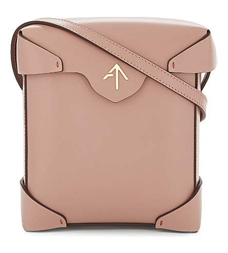 MANU ATELIER Mini Pristine leather cross-body bag (Rose