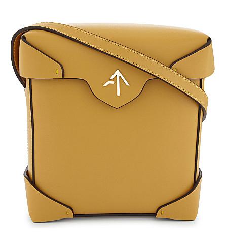 MANU ATELIER Mini Pristine leather cross-body bag (Mustard