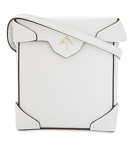 MANU ATELIER Pristine mini leather shoulder bag (White