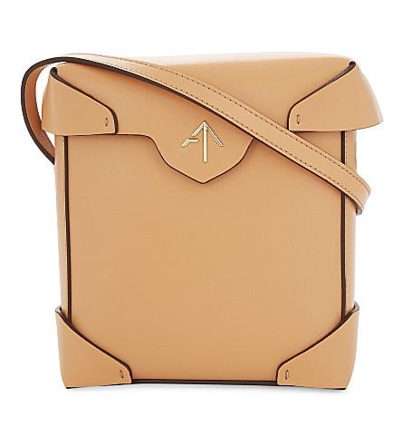 MANU ATELIER Pristine mini leather shoulder bag (Antique+peach