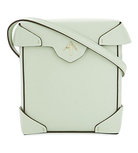 MANU ATELIER Mini Pristine leather cross-body bag (Mint