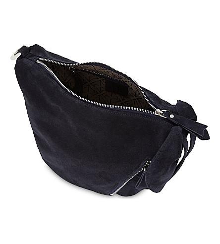 MANU ATELIER Mini Fernweh suede backpack (Navy