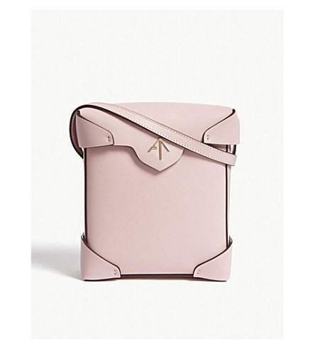 MANU ATELIER Mini Pristine leather cross-body bag (Bubblegum