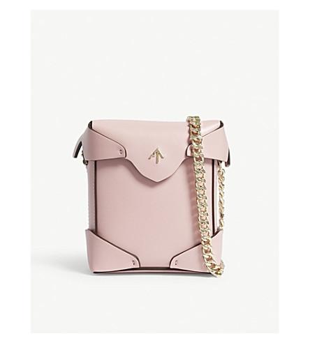 MANU ATELIER Micro Pristine leather cross-body bag (Bubblegum