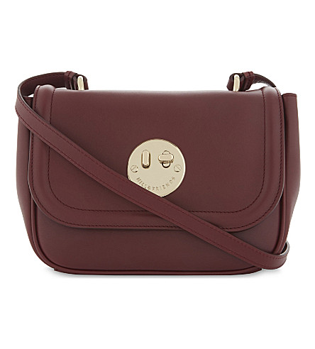 HILL AND FRIENDS Happy mini leather cross-body bag (Oxblood