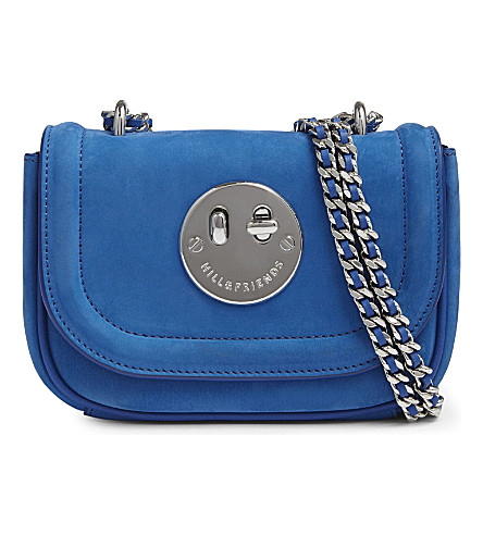 HILL AND FRIENDS Happy Tweency chain cross-body bag (Electric+blue/silver