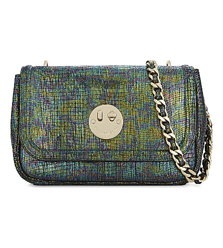 HILL AND FRIENDS Happy iridescent medium shoulder bag (Happy+camo+/gold
