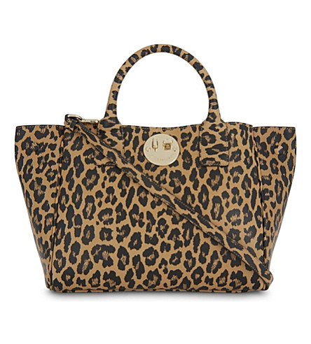 HILL AND FRIENDS Happy mini leopard-print leather tote (Leopard