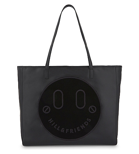 HILL AND FRIENDS Happy slouchy leather tote (Black