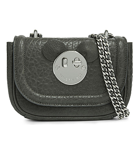 HILL AND FRIENDS Happy Tweency Mouse cross-body bag (Mouse+grey/silver