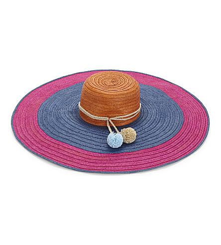 SOPHIE ANDERSON Corozon woven sun hat (Pink/blue/orange