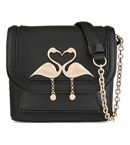 SOPHIA WEBSTER Claudie small leather shoulder bag (Black