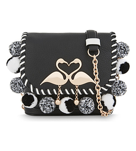 SOPHIA WEBSTER Claude Flamingo leather cross-body bag (Cookies+++cream