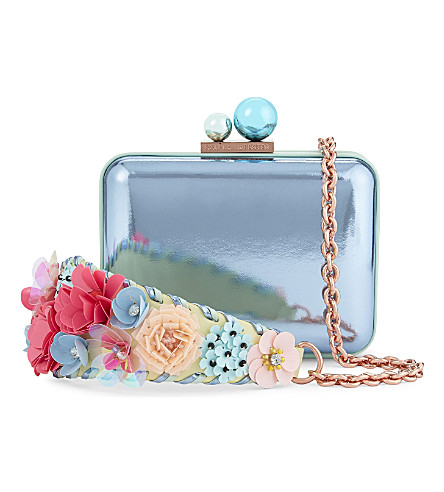 SOPHIA WEBSTER Lilico leather clutch (Pearl blue