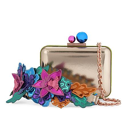 SOPHIA WEBSTER Hula leather clutch (Rose gold