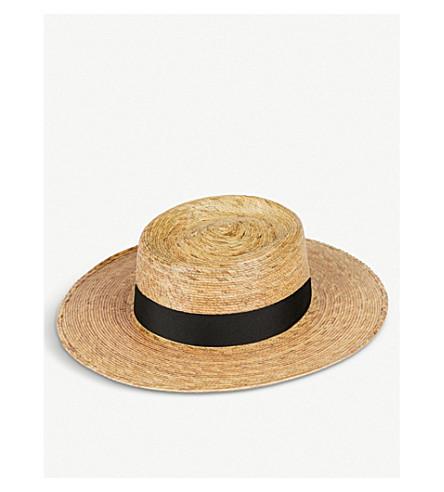 LACK OF COLOR Palma boater hat (Natural