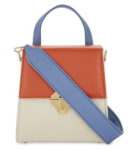 AME MOI Kaya multi-colour leather cross-body bag (Multi