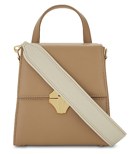 AME MOI Kaya leather cross-body bag (Tan