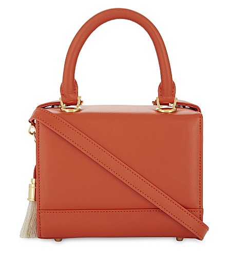 AME MOI Lisbon leather mini handbag (Red