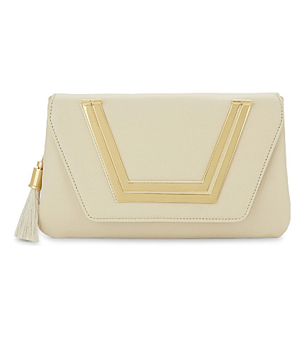 AME MOI Sapphire leather clutch (Cream