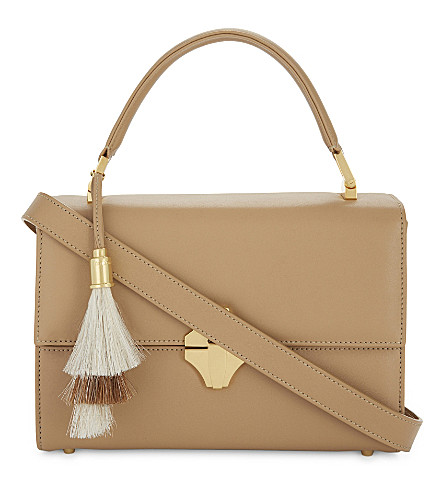 AME MOI Camille leather satchel bag (Tan
