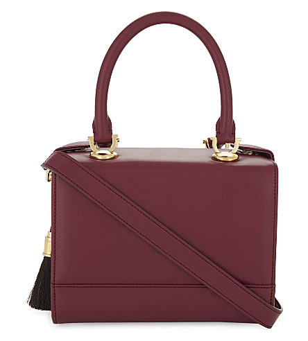 AME MOI Lisbon leather mini handbag (Purple