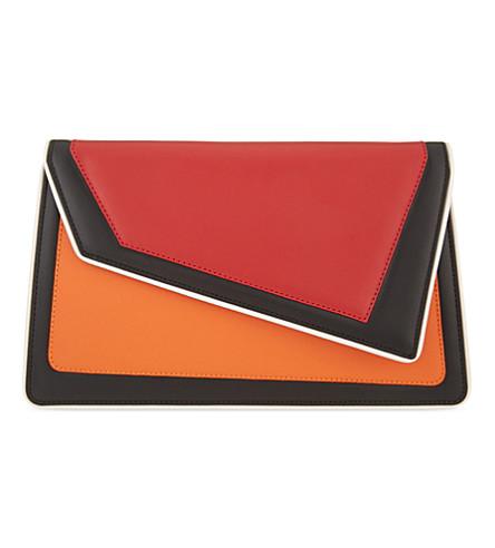 AME MOI Chiado leather clutch (Red/orange