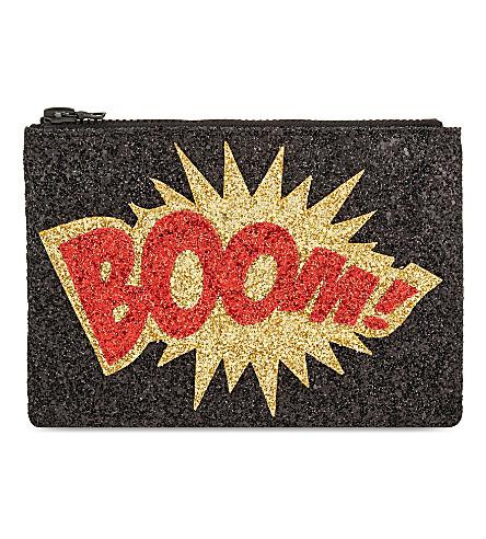 I KNOW THE QUEEN Boom glitter clutch (Multi