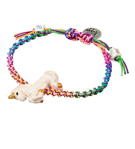 VENESSA ARIZAGA Rainbow unicorn ceramic bracelet (Multi