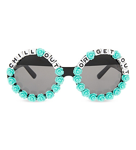 RAD AND REFINED Chill out or get out round-frame sunglasses (Multi