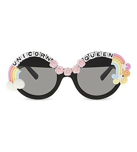 RAD AND REFINED Unicorn Queen round-frame sunglasses (Multi